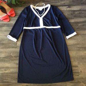 Motherhood Maternity Navy & White Dress